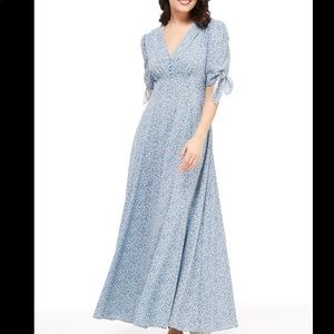 NEW Gal Meets Glam Floral Blue Maxi Dress